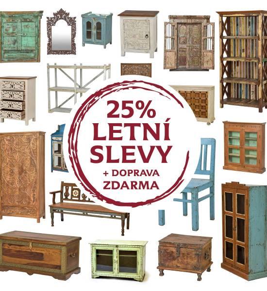 Krásné originální kousky se slevou 25%! Právě jsme odstartovali letní slevy na nábytek.