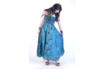 dlouhé šaty s květinami