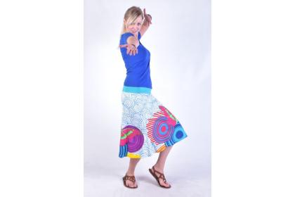 tříčtvrteční sukně s potiskem