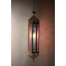 Arabská lampa, multibarevná, mosaz, sklo, ruční práce, cca 21x97cm