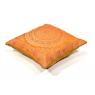 Zlatý saténový povlak na polštář s výšivkou mandala, zip, 40x40cm