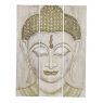 Dřevěný panel Buddha, 3 díly, pínie, 150x5x200cm