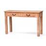 Konzolový stolek z antik teakového dřeva, bílá patina, 122x40x78cm