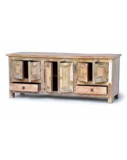 "Komoda z antik teakového dřeva, ""GOA"" styl, 150x45x60cm"