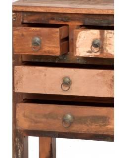 "Komodka/noční stolek z antik teakového dřeva, ""GOA"" styl, 51x39x66cm"