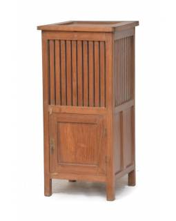 Prádelník z antik teakového dřeva, 45x45x94cm