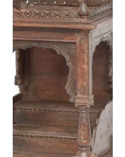 Stará skříňka na oltář z teakového dřeva, 46x46x70cm
