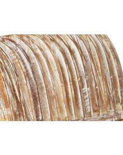 Sofa z antik teakového dřeva, bílá patina, 134x53x70cm