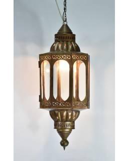 Prosklená lampa v orientálním stylu, ruční práce, 30x75cm