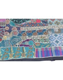 Patchworková tapiserie z Rajastanu, ruční práce, 100x150cm