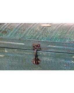Plechový kufr, MAHAMAYA, zelený, 71x50x37cm