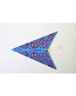 """Modro-fialový papírový lampion hvězda """"Psychedelic"""", 5 cípů, 60cm"""
