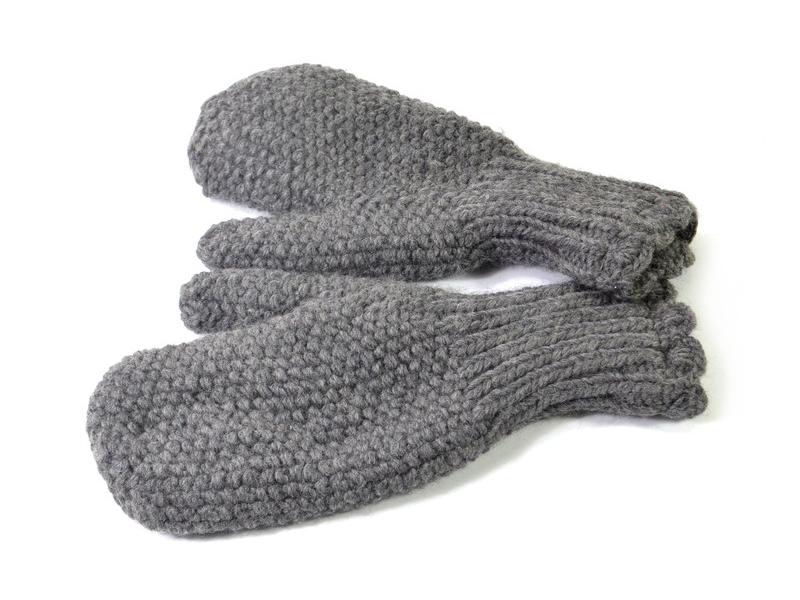 Rukavice-palčáky, unisex, tmavě šedé