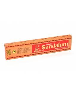 Vonné tyčinky, Sandalum, Sreevani, 25 cm, 25g