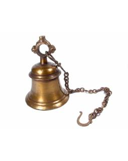 Zvonec mosaz, průměr 16 cm, výška 22 cm, řetěz