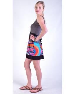 """Šedé šaty bez rukávu """"Jenna """" s barevným potiskem, pásek"""