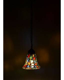 Skleněné mozaikové stínidlo ve tvaru zvonku, 15x17cm