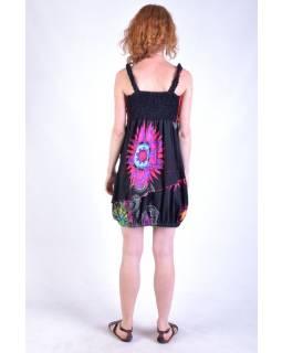 """Černo červené balonové šaty bez rukávu """"Mandala"""", šňůrka"""