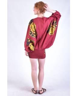 Turecké kalhoty-overal-halena, červené, 3 v 1, tisk