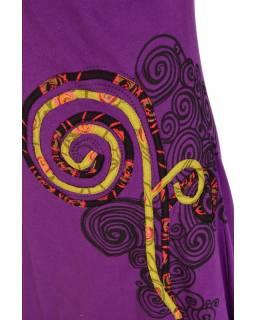 """Krátké balonové fialové šaty """"Spiral Rose"""" design, aplikace a potisk"""