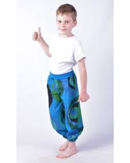"""Dětské kalhoty balonové, """"Disco design"""", modré"""