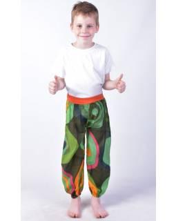 """Dětské kalhoty balonové, """"Disco design"""", zelené"""