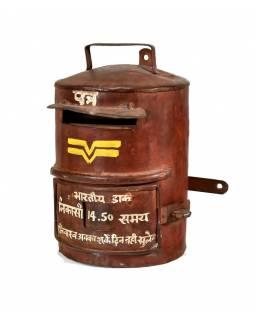 Poštovní schránka Indické pošty, ručně malovaná, 20x23x30cm