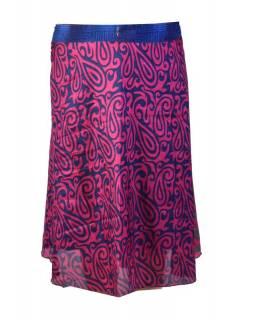 Tříčtvrteční zavinovací sukně z recyklovaných sárí