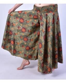 Široké kalhoty z recyklovaných sárí