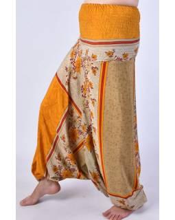 Turecké kalhoty z recyklovaných sárí