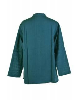 Petrolejová pánská košile-kurta s dlouhým rukávem a kapsičkou