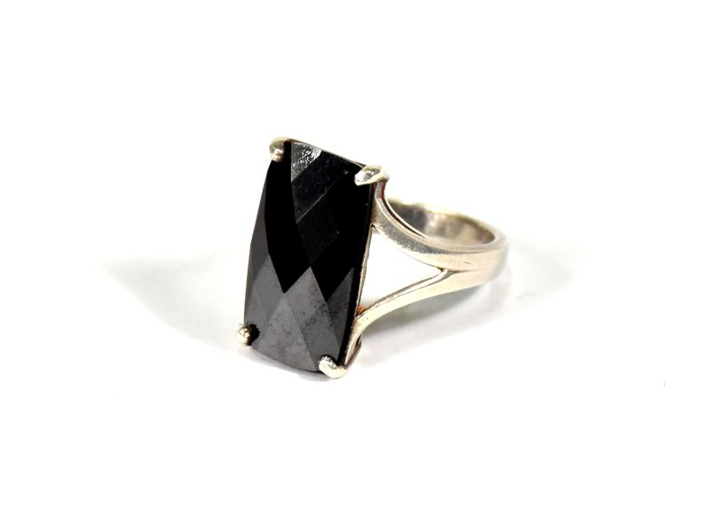Stříbrný prsten vykládaný barveným zirconem, vel.57, AG 925/1000, Nepál