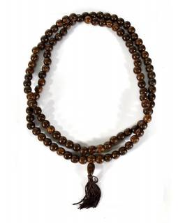 Tibetská Mala, 108 korálků, průměr 12mm, kokos, délka 60cm