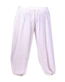 """Kalhoty, dlouhé, bílé, """"Indy"""", balonové, guma v pase"""