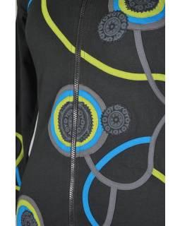 Černá mikina s kapucí a Chakra aplikacemi 3097388c5f