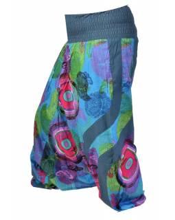 """Modré turecké kalhoty-overal-halena 3v1 """"Butterfly design"""", žabičkování"""