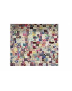 Přehoz na postel, patchwork, ruční práce, 225x260cm