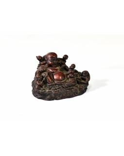 Soška ležící Buddha, pryskyřice, 13x9cm