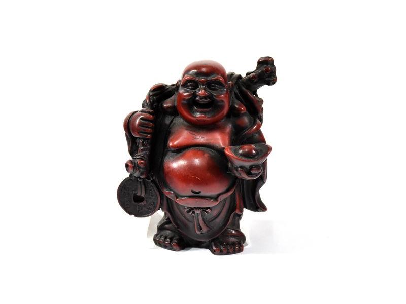 Soška smějící se Buddha, pryskyřice, 10cm