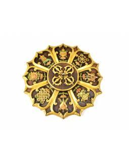 Mandala, Astamangal, ručně malovaná keramika, prům. 50cm
