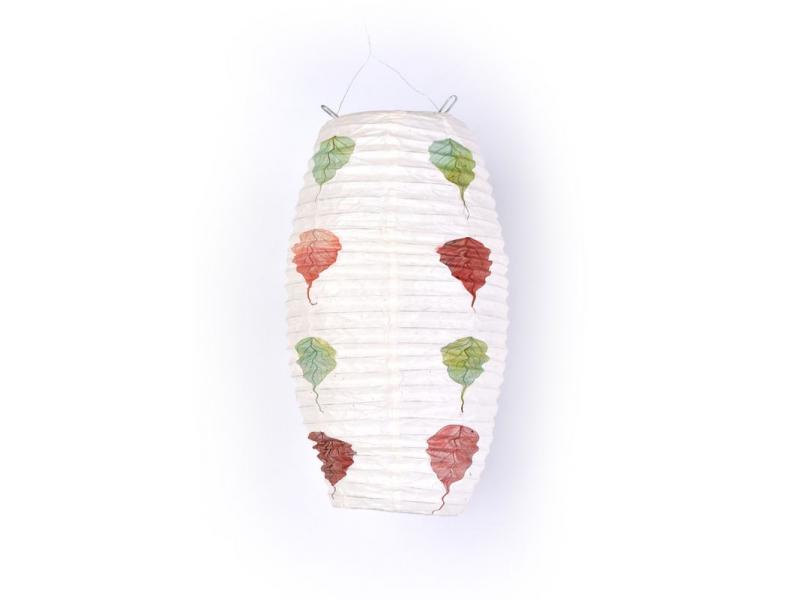 """Stínidlo, """"vosí hnízdo"""", přírodní papír - vlisované listy, 29x51cm"""