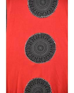 Krátké černo-červené balonové šaty bez rukávu, Chakra design