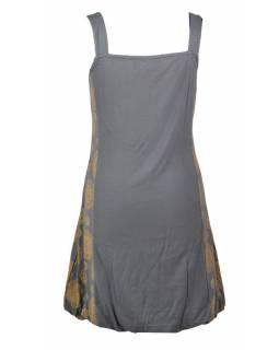 Krátké šedožluté balonové šaty bez rukávu, Chakra design
