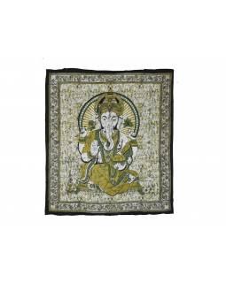 Přehoz na postel, Ganesh, zelený, 210x225cm