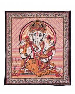 Přehoz na postel, Ganesh, růžový, 210x225cm