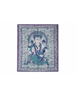Přehoz na postel, Ganesh, fialový, 210x225cm