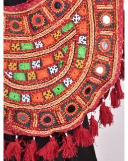 Unikátní taška z Gudžarátu, ručně vyšívaná, 52x54cm
