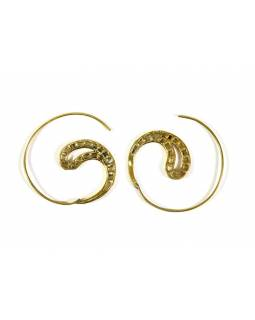 Kruhové visací náušnice ve zlaté barvě, cca 3,5cm