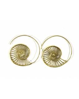 Kruhové visací náušnice ve zlaté barvě, cca 4cm