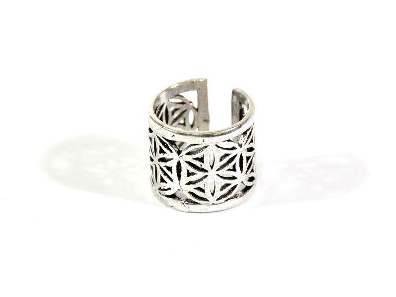 Postříbřený prsten, roztahovací, (10µm)